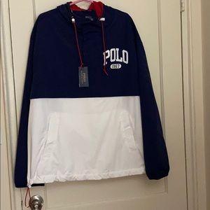 NWT polo Ralph Lauren logo pullover windbreaker